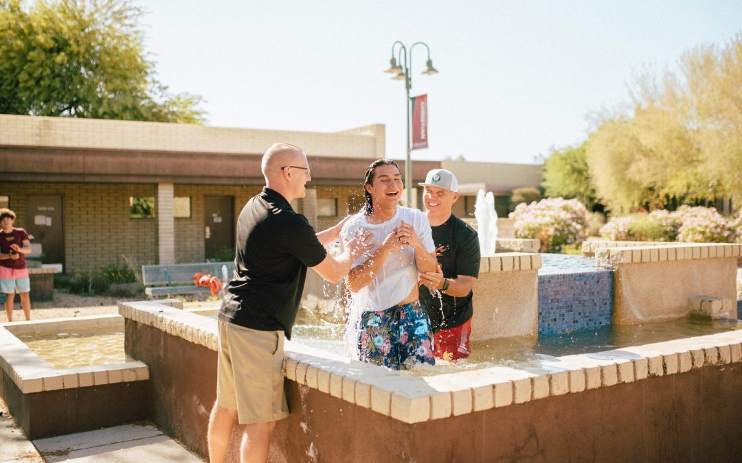 Baptisms Spring Forth on Campus